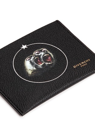 Detail View - Click To Enlarge - Givenchy - 'Monkey Brothers' faux leather cardholder