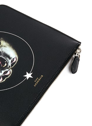 Detail View - Click To Enlarge - Givenchy - 'Monkey Brothers' faux leather zip pouch