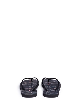 Back View - Click To Enlarge - Givenchy - Monkey print flip flops