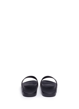Back View - Click To Enlarge - Givenchy - Logo print rubber slide sandals