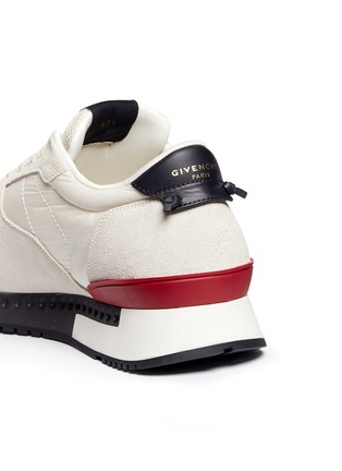 Detail View - Click To Enlarge - Givenchy - 'Runner Active' mixed media sneakers