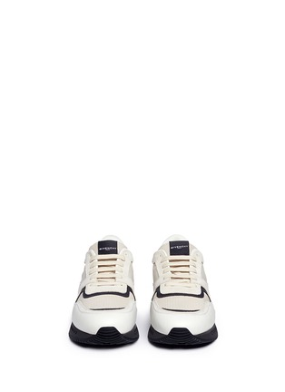 Front View - Click To Enlarge - Givenchy - 'Runner Active' mixed media sneakers