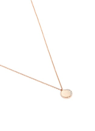 Detail View - Click To Enlarge - Pamela Love - 'Reversible Moon Phase' diamond 18k rose gold pendant