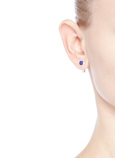 Pamela Love'Gravitation' diamond pavé 18k gold lapis earrings