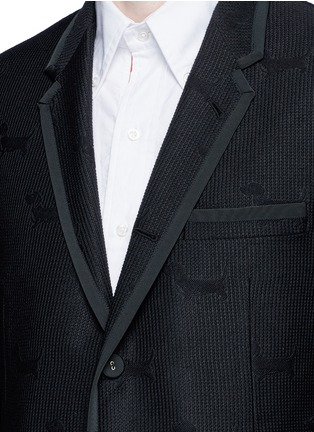 Detail View - Click To Enlarge - Thom Browne - 'Hector' wool stamp jacquard blazer