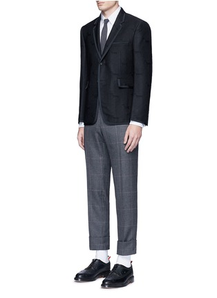 Figure View - Click To Enlarge - Thom Browne - 'Hector' wool stamp jacquard blazer
