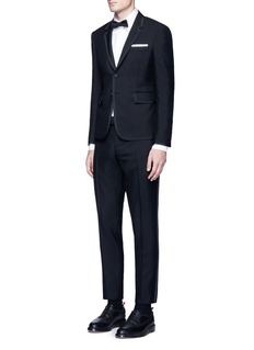 Thom Browne Grosgrain ribbon wool-mohair tuxedo suit