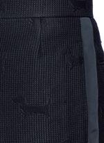 'Hector' wool stamp jacquard pants
