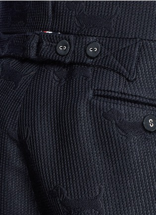 Detail View - Click To Enlarge - Thom Browne - 'Hector' wool stamp jacquard pants