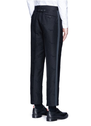 Back View - Click To Enlarge - Thom Browne - 'Hector' wool stamp jacquard pants