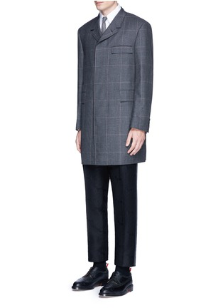 Figure View - Click To Enlarge - Thom Browne - 'Hector' wool stamp jacquard pants