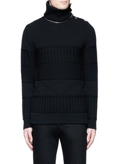 Givenchy Detachable turtleneck wool-cotton sweater