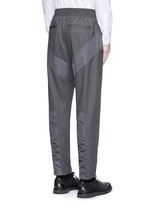 Diagonal panel flannel pants