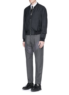 Givenchy Diagonal panel flannel pants