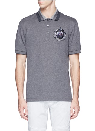 Main View - Click To Enlarge - Givenchy - Star monkey patch embroidery polo shirt