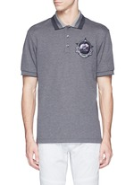 Star monkey patch embroidery polo shirt