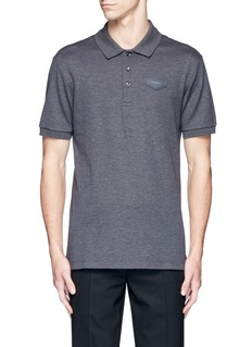Givenchy Leather logo patch polo shirt