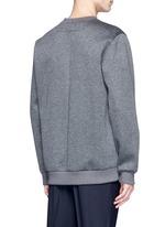 Leather logo patch marled scuba jersey sweatshirt