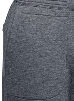 Logo patch bonded jersey sweatpants