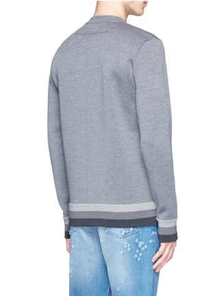 Back View - Click To Enlarge - Givenchy - Monkey patch bonded wool sweater