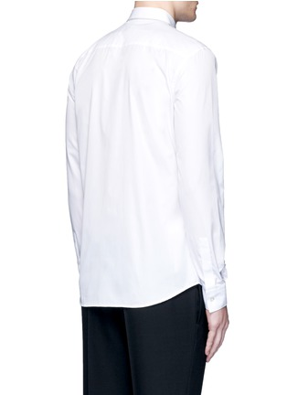 Back View - Click To Enlarge - Givenchy - Chain link collar cotton poplin shirt