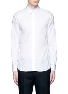 GivenchyChain link collar cotton poplin shirt