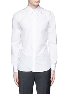 GivenchyBarb wire embroidery cotton shirt