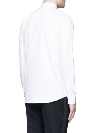 Back View - Click To Enlarge - Givenchy - Star engraved collar bone poplin shirt