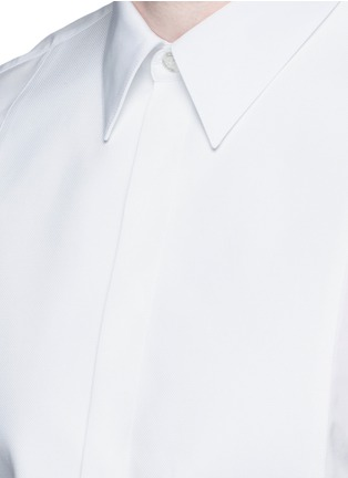 Detail View - Click To Enlarge - Givenchy - Bib front cotton tuxedo shirt