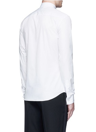 Back View - Click To Enlarge - Givenchy - Bib front cotton tuxedo shirt