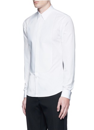 Front View - Click To Enlarge - Givenchy - Bib front cotton tuxedo shirt