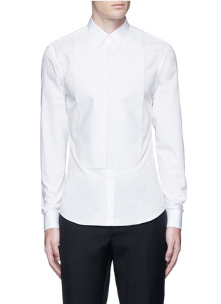 Main View - Click To Enlarge - Givenchy - Bib front cotton tuxedo shirt