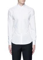 Bib front cotton tuxedo shirt