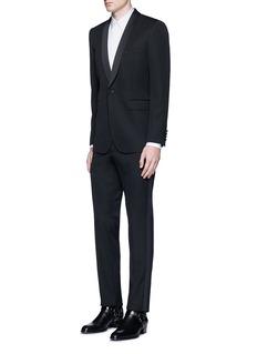 GivenchyBib front cotton tuxedo shirt