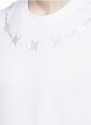 Detail View - Click To Enlarge - Givenchy - Barb wire embroidery T-shirt