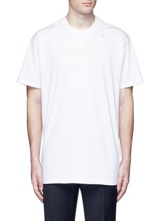 Givenchy Barb wire embroidery T-shirt