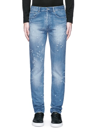 Detail View - Click To Enlarge - Givenchy Beauty - Back strap distressed jeans