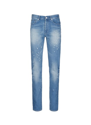 Main View - Click To Enlarge - Givenchy Beauty - Back strap distressed jeans