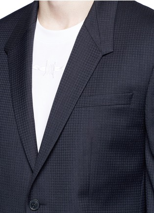 Detail View - Click To Enlarge - Givenchy - Madonna collar gingham check wool suit