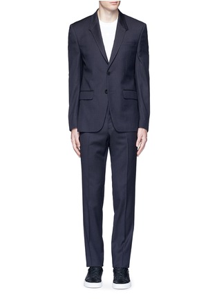 Main View - Click To Enlarge - Givenchy - Madonna collar gingham check wool suit