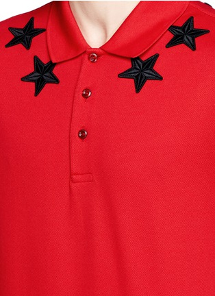 Detail View - Click To Enlarge - Givenchy Beauty - Star patch polo shirt