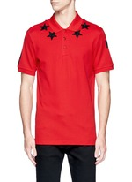 Star patch polo shirt