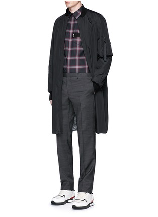Figure View - Click To Enlarge - Givenchy - Pocket strap check plaid cotton shirt