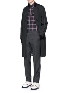 GivenchyPocket strap check plaid cotton shirt