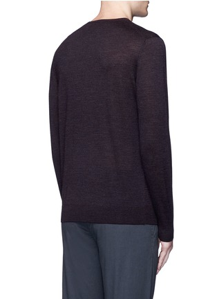 Back View - Click To Enlarge - Altea - Stripe virgin wool sweater