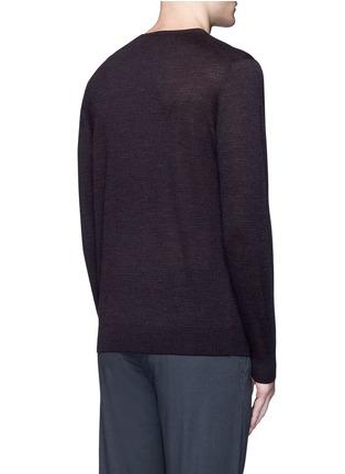 背面 - 点击放大 - ALTEA - 细条纹初剪羊毛针织衫
