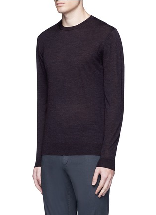 Front View - Click To Enlarge - Altea - Stripe virgin wool sweater