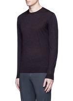 Stripe virgin wool sweater