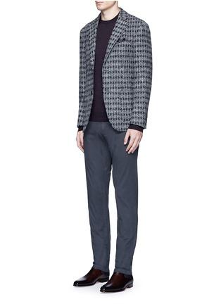 模特儿示范图 - 点击放大 - ALTEA - 细条纹初剪羊毛针织衫