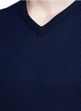 Detail View - Click To Enlarge - Altea - Floral intarsia V-neck sweater
